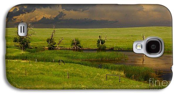 Nebraska Galaxy S4 Case - Storm Crossing Prairie 1 by Robert Frederick