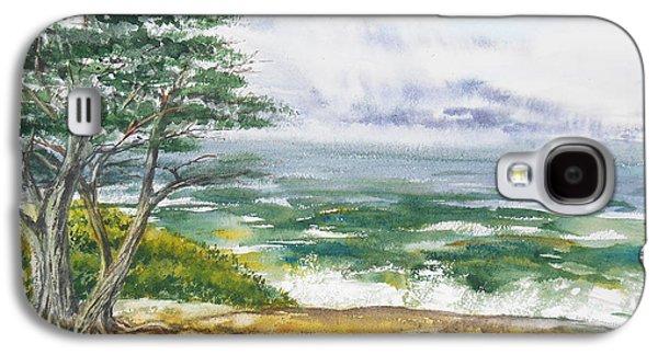 Stormy Morning At Carmel By The Sea California Galaxy S4 Case by Irina Sztukowski