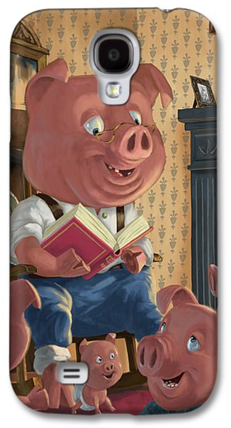 Story Telling Pig With Family Galaxy S4 Case by Martin Davey