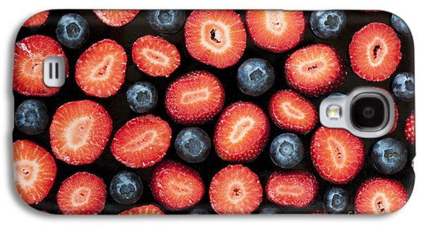 Strawberries And Blueberries Galaxy S4 Case by Tim Gainey