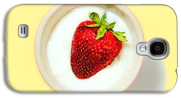 Strawberry And Cream Galaxy S4 Case by Bob Orsillo