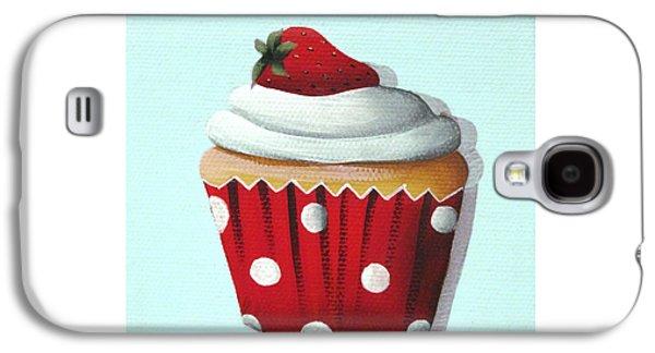Strawberry Shortcake Cupcake Galaxy S4 Case by Catherine Holman