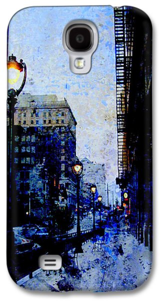 Street Lamp And Blue Abstract Painting Galaxy S4 Case