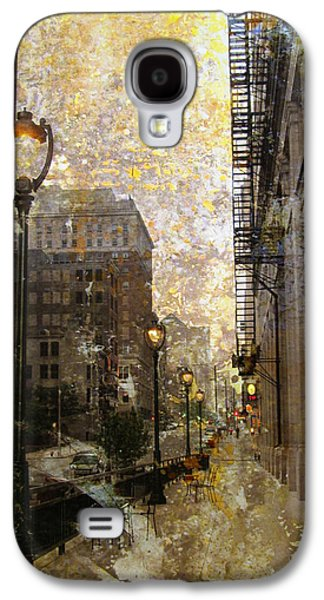 Street Lamp And Gold Metallic Painting Galaxy S4 Case