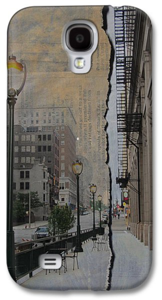 Street Lamp And Painted Newspaper Galaxy S4 Case