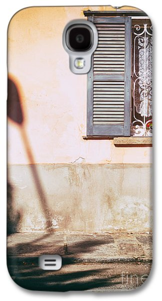 Galaxy S4 Case featuring the photograph Street Lamp Shadow And Window by Silvia Ganora