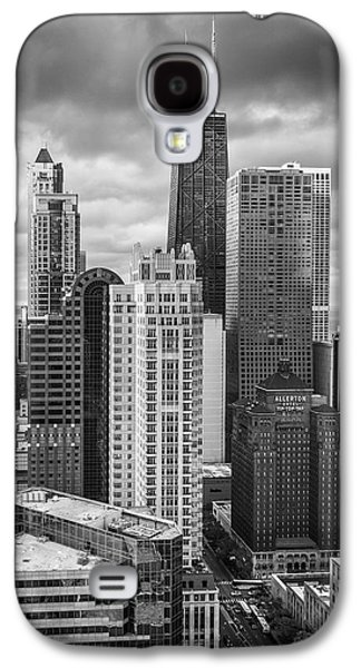 Streeterville From Above Black And White Galaxy S4 Case by Adam Romanowicz