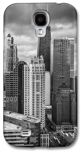 Streeterville From Above Black And White Galaxy S4 Case