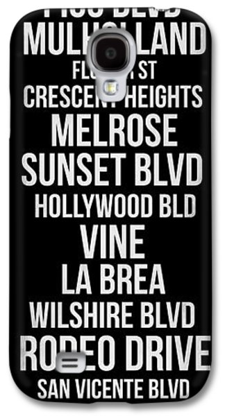 Streets Of Los Angeles 2 Galaxy S4 Case by Naxart Studio