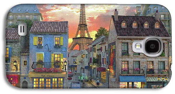 Streets Of Paris Galaxy S4 Case by Dominic Davison