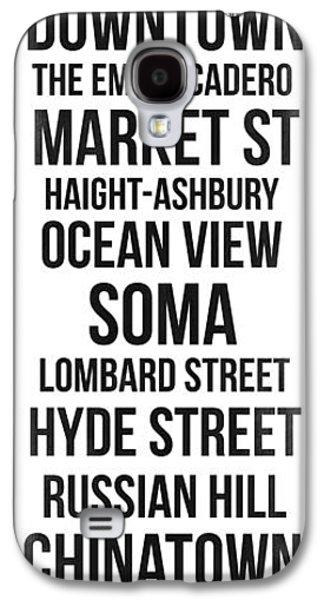 Streets Of San Francisco 3 Galaxy S4 Case by Naxart Studio