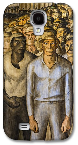 Striking Miners Mural In Coit Tower Galaxy S4 Case by Adam Romanowicz