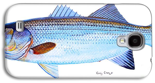 Striped Bass Galaxy S4 Case by Carey Chen
