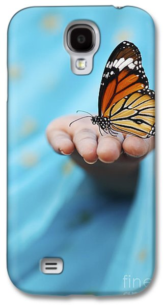 Striped Tiger Butterfly Galaxy S4 Case by Tim Gainey
