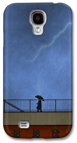 Strolling In The Rain Galaxy S4 Case by Juli Scalzi