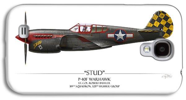 Stud P-40 Warhawk - White Background Galaxy S4 Case by Craig Tinder