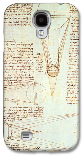 Studies Of The Illumination Of The Moon Galaxy S4 Case by Leonardo Da Vinci