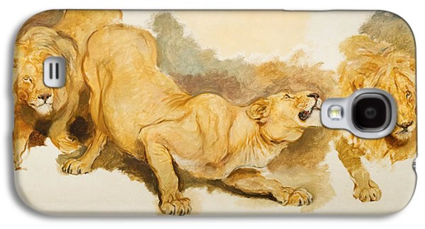 Study For Daniel In The Lions Den Galaxy S4 Case by Briton Riviere