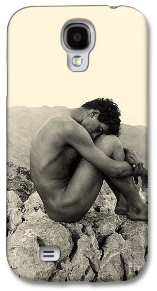Study Of A Male Nude On A Rock In Taormina Sicily Galaxy S4 Case