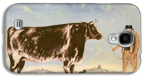 Study Of A Shorthorn Galaxy S4 Case by William Joseph Shayer