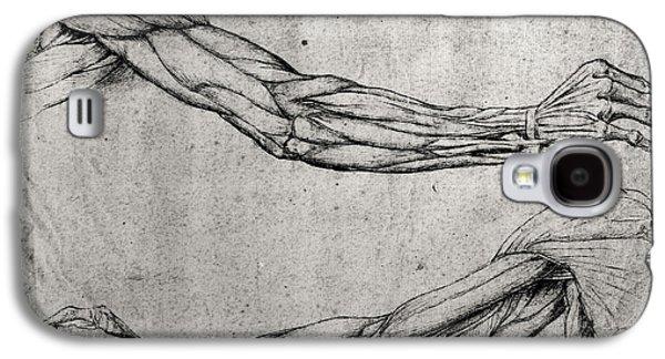 Study Of Arms Galaxy S4 Case by Leonardo Da Vinci