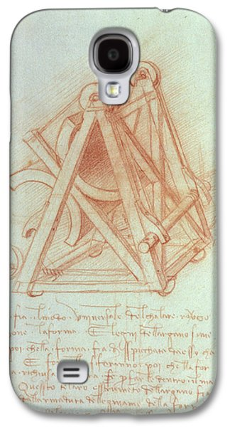 Study Of The Wooden Framework With Casting Mould For The Sforza Horse Galaxy S4 Case by Leonardo da Vinci