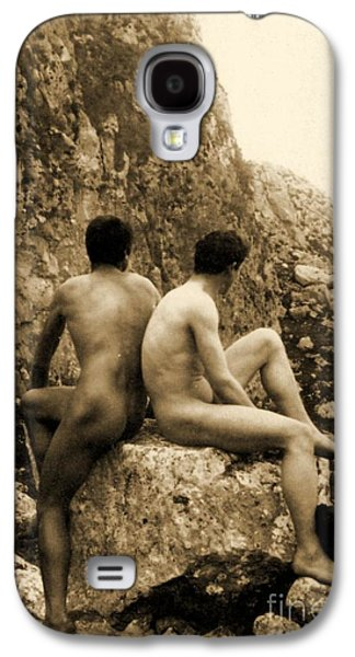 Study Of Two Male Nudes Sitting Back To Back Galaxy S4 Case by Wilhelm von Gloeden