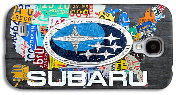 Subaru License Plate Map Sales Celebration Limited Edition 2013 Art Galaxy S4 Case by Design Turnpike