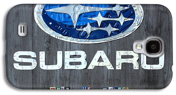 Subaru Logo Art Celebrating 2012 Usa Sales Totals Galaxy S4 Case by Design Turnpike
