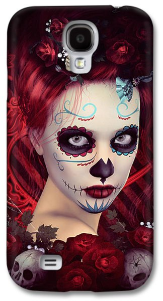 Sugar Doll Red Galaxy S4 Case by Shanina Conway