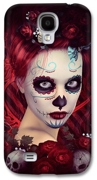 Sugar Doll Red Galaxy S4 Case by Shanina Conway