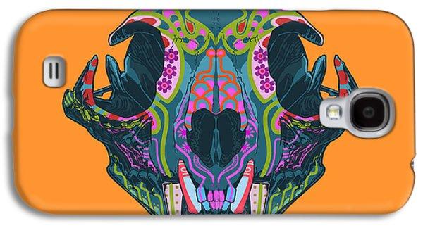 Folk Art Galaxy S4 Case - Sugar Lynx  by Nelson dedos Garcia