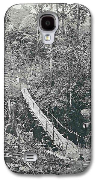 Sumatra Indonesia, Suspension Bridge At Gunung Rintel Galaxy S4 Case by Artokoloro