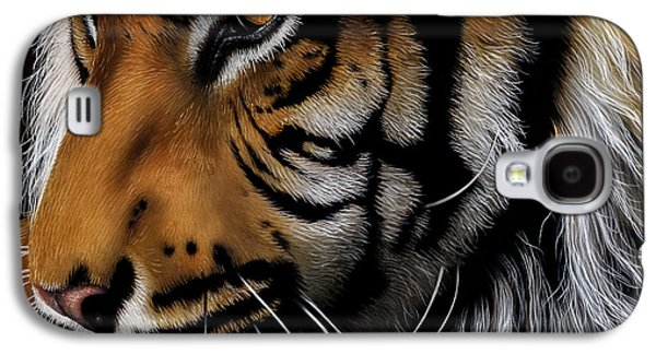 Sumatran Tiger Profile Galaxy S4 Case by Jurek Zamoyski