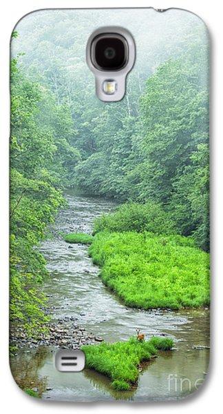 Summer Deer In River Galaxy S4 Case by Thomas R Fletcher