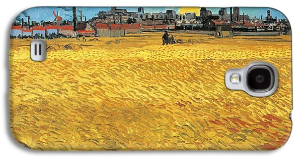 Summer Evening Wheat Field At Sunset Galaxy S4 Case by Vincent van Gogh
