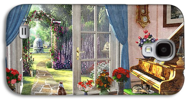 Galaxy S4 Case featuring the painting Summer Garden View by Dominic Davison