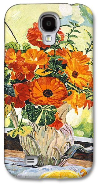 Summer House Still Life Galaxy S4 Case by David Lloyd Glover