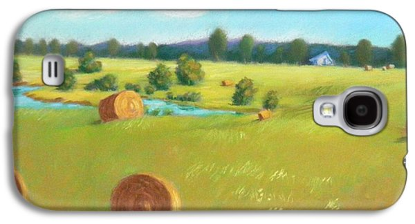 Haybales Pastels Galaxy S4 Cases - Summer Meadow Galaxy S4 Case by Celine  K Yong
