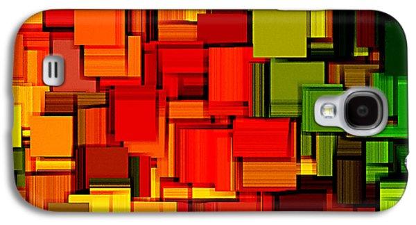 Summer Modern Abstract Art Xviii Galaxy S4 Case by Lourry Legarde