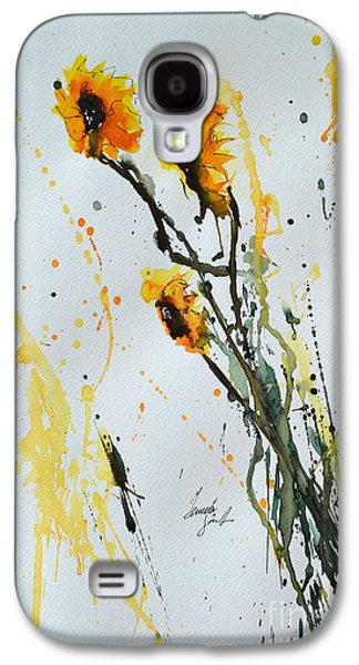 Sun-childs- Flower Painting Galaxy S4 Case by Ismeta Gruenwald