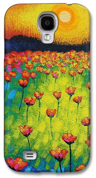 Sunburst Poppies Galaxy S4 Case by John  Nolan