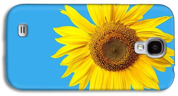 Sunflower Galaxy S4 Case - Sunflower Blue Sky by Edward Fielding