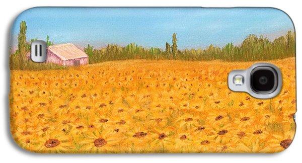 Sunflower Field Galaxy S4 Case by Anastasiya Malakhova