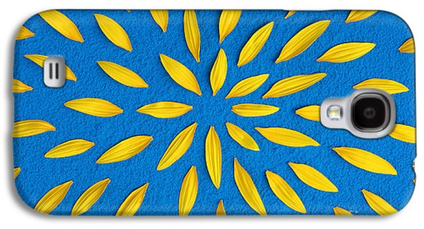 Sunflower Petals Pattern Galaxy S4 Case by Tim Gainey