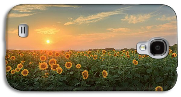 Sunflower Sundown Galaxy S4 Case by Bill Wakeley