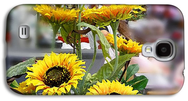 Sunflowers At The Market Florence Italy Galaxy S4 Case