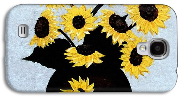 Sunflowers Expressive Brushstrokes Galaxy S4 Case