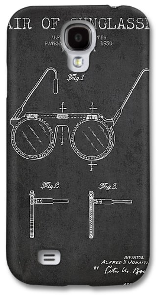 Sunglasses Patent From 1950 - Dark Galaxy S4 Case