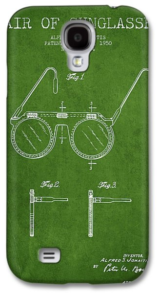 Sunglasses Patent From 1950 - Green Galaxy S4 Case